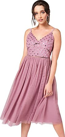 Little Mistress Phoebe Canyon Rose Sequin Top Midi Dress 16 UK Canyon Rose
