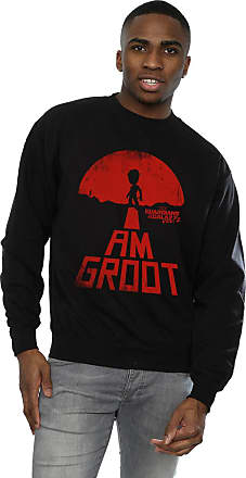 MARVEL Mens Guardians of The Galaxy I Am Groot Red Sweatshirt X-Large Black