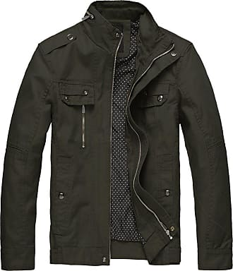 Wantdo Mens Slim Fit Cotton Smart Jacket Green XXX-Large