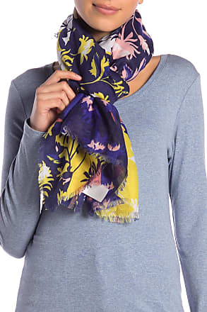 14th & Union Colorblock Floral Print Scarf