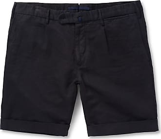 Incotex Slim-fit Linen And Cotton-blend Shorts - Navy