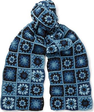 Story mfg. Crocheted Organic Cotton Scarf - Blue