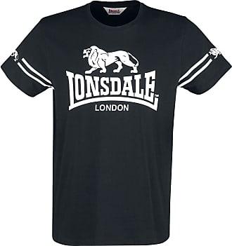 Lonsdale Mens Aldeburgh T-Shirt, Black, Medium