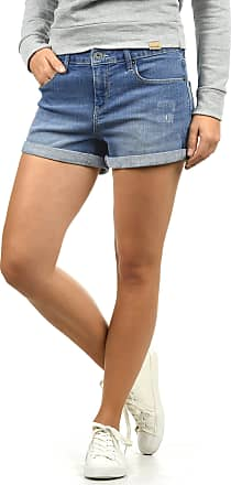 Blend Andreja Womens Denim Jeans Shorts Stretch Relaxed-Fit, Size:L, Colour:Light Blue Denim (29030)