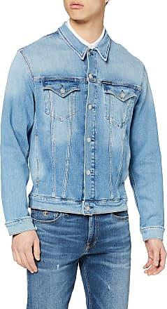 Calvin Klein Jeans Mens Foundation Slim Denim Jacket, Blue (Da045 Mid Blue 1A4), X-Small (Size:XS)