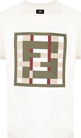 Fendi Camiseta com estampa de logo - Neutro