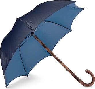 Francesco Maglia Lord Chestnut Wood-handle Two-tone Umbrella - Navy