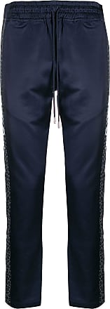 Just Don leopard print stripe track trousers - Azul
