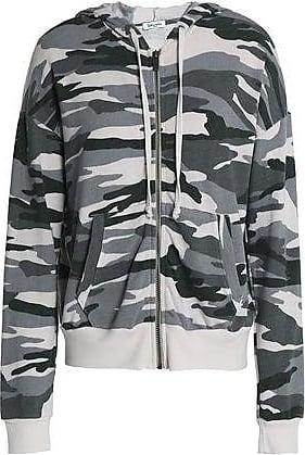 41efad8580fefa Splendid Splendid Woman Printed Jersey Hooded Jacket Gray Size XS