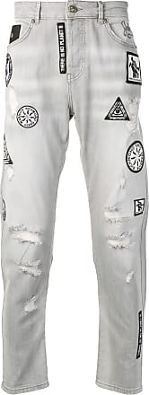 John Richmond patchwork jeans - Cinza