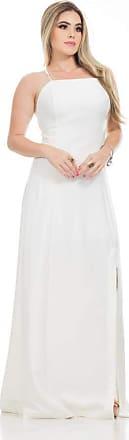 Clara Arruda Vestido Clara Arruda Longo Fenda Lateral 50528-44 - Off White