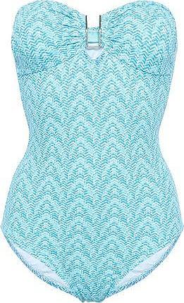 9192c809b3c Melissa Odabash Melissa Odabash Woman Argentina Printed Bandeau Swimsuit  Light Blue Size 14
