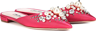 Miu Miu Exclusive to mytheresa.com - embellished satin slippers