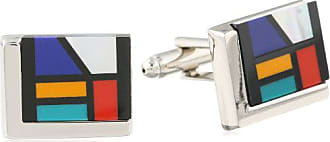 Stacy Adams Stacy Adams Mens Cuff Link With Mosiac Like Stones, Silver, One Size