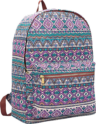 Quenchy London Ladies Backpack, Girls Casual Daypack Bag for School, Work or Hand Luggage Travel 20 Litre Size 39cm x32 x16 QL7162Pu (Purple Inca)
