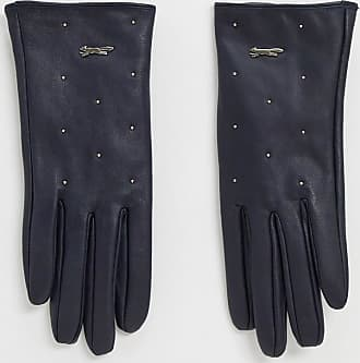 Paul Costelloe real leather gloves in navy-Blue