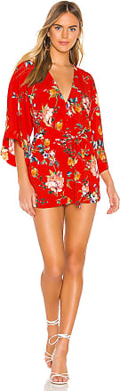 Yumi Kim Lotus Romper in Red