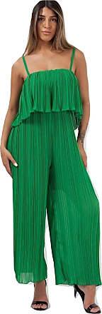 Momo & Ayat Fashions Ladies Pleated Frill Cami Jumpsuit UK Size 8-14 (Green, M/L (UK 12-14))
