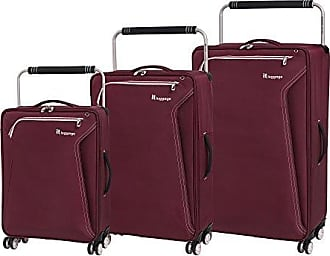 IT Luggage Worlds Lightest Accent 8 Wheel 3 Piece Set, Lipstick