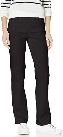 NYDJ Womens Pull ON Marilyn Straight Leg Jeans, Black, 16 30
