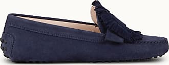 Tod's Gommino Mokassin aus Veloursleder, BLAU, 34 - Shoes