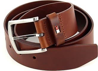 Black Tommy Hilfiger Mens New Denton Belt Logo Belt Large