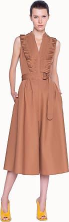 Akris Midi Dress with Belt And Pleated Neckline