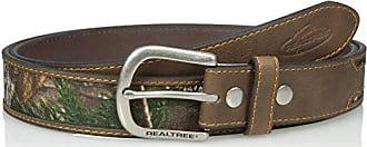 Realtree Mens Big-Tall Western Belt, Brown, 50/52