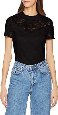 Vila Womens Vistasia S/s Lace Top-Noos Vest, Black (Black Black), 14 (Size: Large)