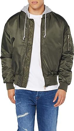 Urban Classics Mens Hooded Oversized Urban Bomber Jacket, Multicolour (OLV/Gry 1161), M