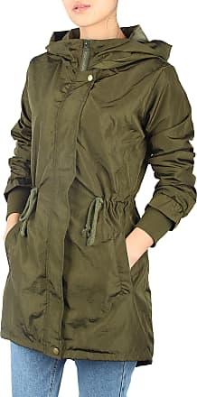 iLoveSIA Womens Lightweight Trench Coat Waterproof Jacket Green UK 14