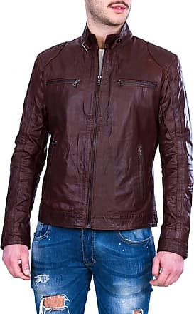 Leather Trend Italy Avatar - Giacca Uomo in Vera Pelle color Marrone Oil Vintage