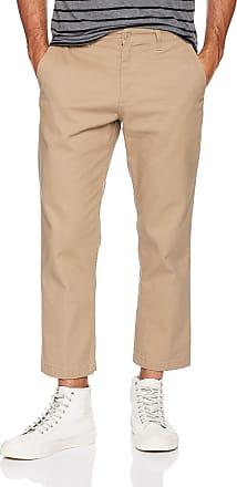 Obey Mens Straggler Slim Flooded Pants, Khaki, 32