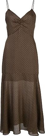 Alexis Vestido alças finas Nizarra com poás - Marrom