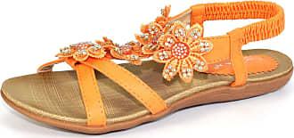 Lunar Womens Fiji Floral Sandal 5 UK 5 UK Orange