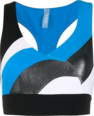 No Ka'Oi Top crop con design color-block - Di colore blu