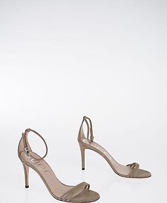 Gucci 9 cm Suede Leather Ankle-strap Sandals Größe 38,5