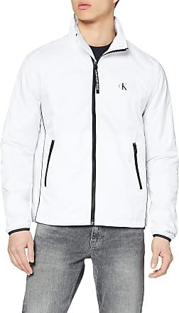 Calvin Klein Jeans Mens Nylon Harrington Sports Jacket, White (Bright White Yaf), Medium (Size:M)