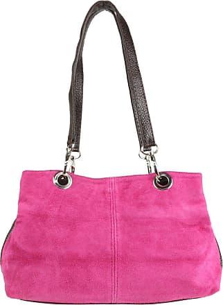 Girly HandBags Girly HandBags Italian Suede Leather Shoulder Bag (Fuchsia)