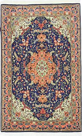 Nain Trading 159x102 Tappeto Fatto A Mano Tabriz 50Raj Marrone Scuro/Blu Scuro (Lana / Seta, Persia/Iran)
