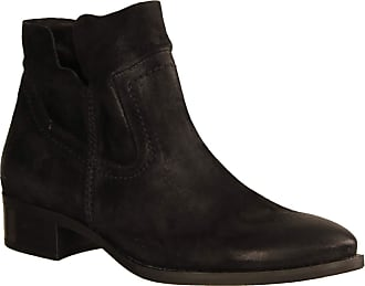 Paul Green 9611-097 Womens Shoes, Fashionable Ankle Boots, Black, Leather (Twice), Heel Height: 25 mm Black Size: 6.5 UK