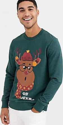 Jack & Jones Kerstmis - Sweatshirt met rendier-Groen
