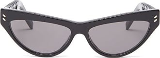 Stella McCartney Stella Mccartney - Cat-eye Acetate Sunglasses - Womens - Black Grey