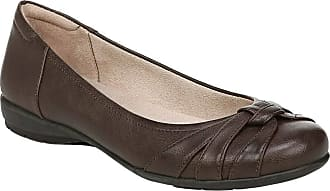Naturalizer Womens Gift Ballet Flat, Dark Brown, 8 Wide