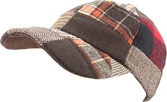 Hawkins Patchwork Tweed Baseball Cap with Adjustable Strap - Red