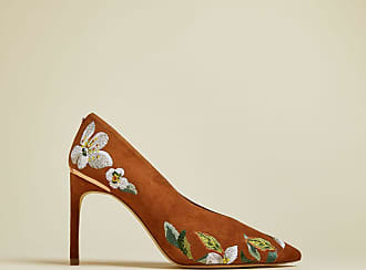 Ted Baker Floral Suede Effect Court Shoes in Brown JAZIMIN3, Womens Accessories
