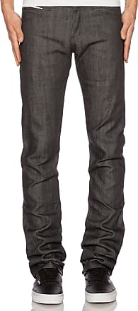 Naked & Famous Denim Skinny Guy Charcoal Selvedge in Charcoal