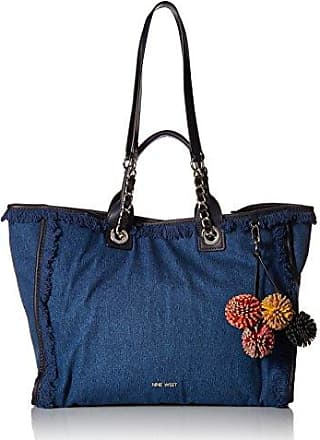 Nine West Trixie Tote With Pouch Denim Medium Blue French Navy