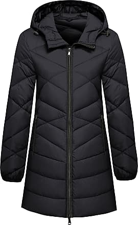 Femaroly Mens Winter Down Cotton Quilted Coat Stand Collar Winter Warm Jacket Blue M