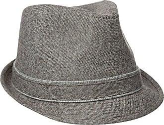 Haggar Mens Donegal Fedora, Grey, Large/X-Large